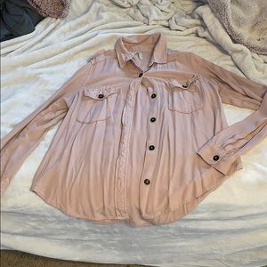 Pink casual button down